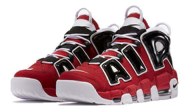 Кроссовки Nike Air More Uptempo Chicago Bulls (Red/White/Black) фото в «GetKeds»