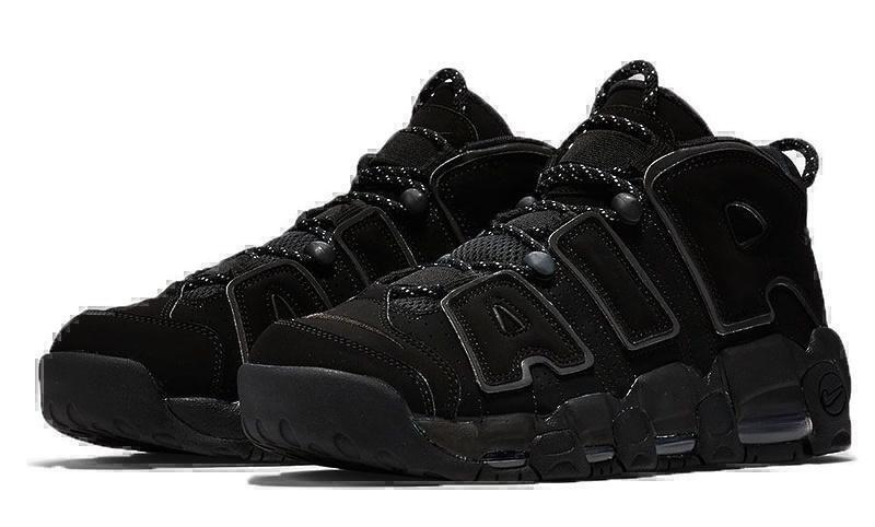 Кроссовки Nike Air More Uptempo (Triple Black) фото в «GetKeds»