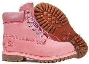 Ботинки Timberland 6 Inch Premium Waterproof Boots (Pink Nubuk) (C мехом)-RT2312GK