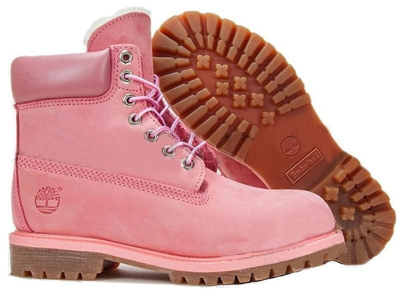 Ботинки Timberland 6 Inch Premium Waterproof Boots (Pink Nubuk) (C мехом) фото в «GetKeds»