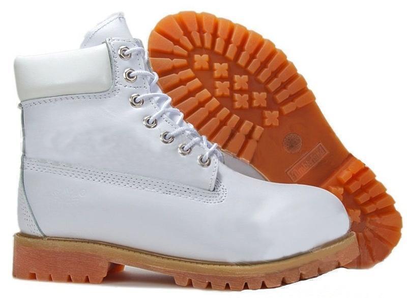 Ботинки Timberland 6 Inch Premium Waterproof Boots Leather (White) (C мехом) фото в «GetKeds»