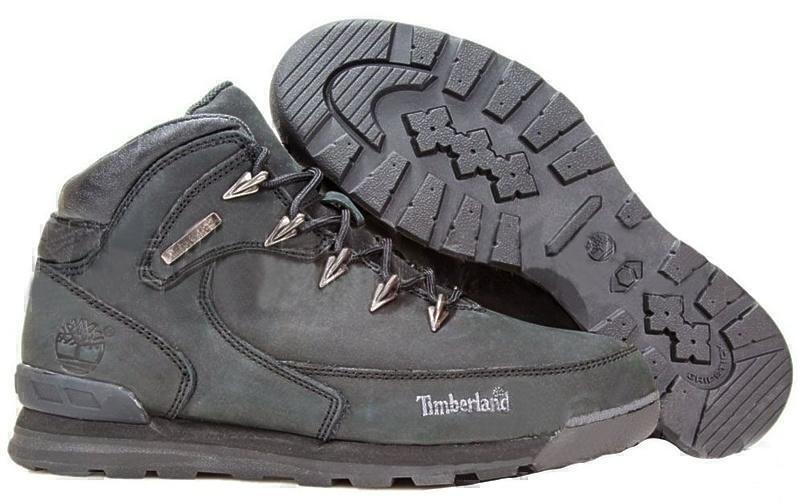 Ботинки Timberland Euro Sprint II Leather (Triple Black) (С мехом) фото в «GetKeds»