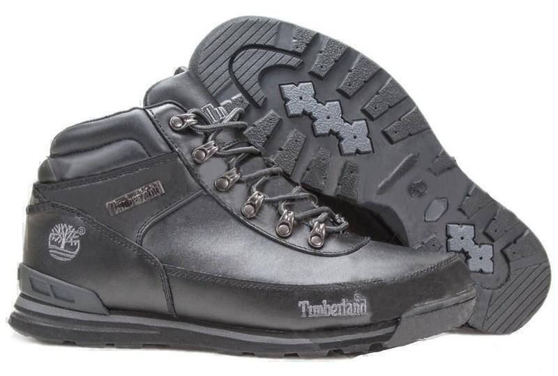 Ботинки Timberland Euro Sprint Leather (Black) (С мехом) фото в «GetKeds»