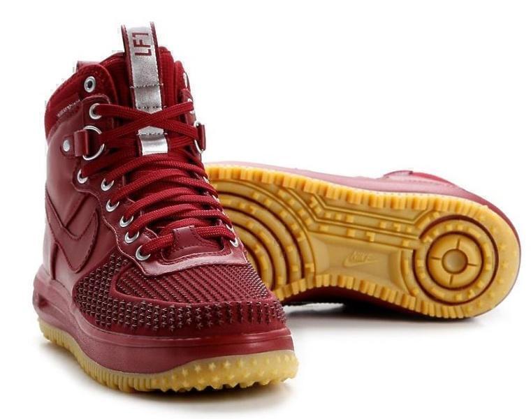 Nike Lunar Force 1 Duckboot (Team Red/Gum Light Brown) фото #2 в «GetKeds»