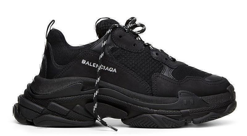 Кроссовки Balenciaga Triple S (Black) фото в «GetKeds»
