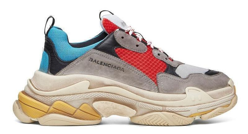 Кроссовки Balenciaga Triple S (Grey/Red/Blue) фото в «GetKeds»