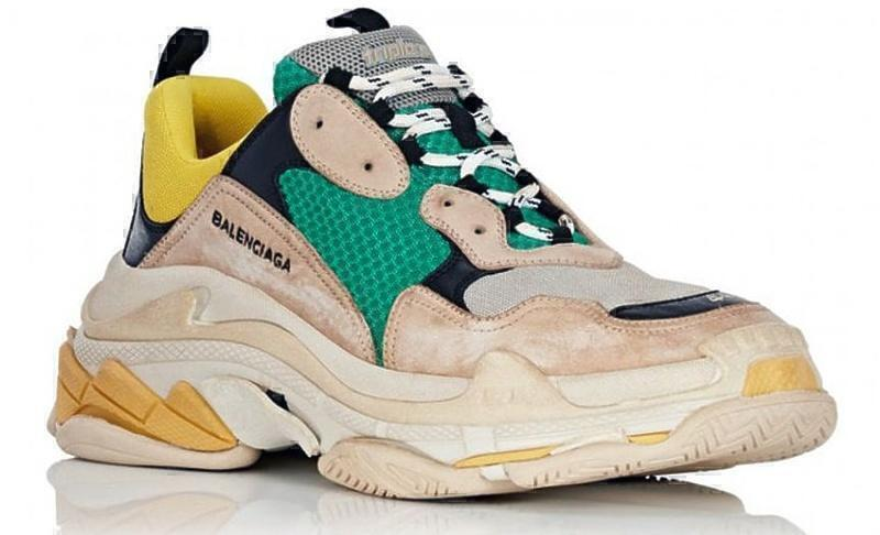 Balenciaga Triple S (Green/Yellow/Beige) фото #2 в «GetKeds»