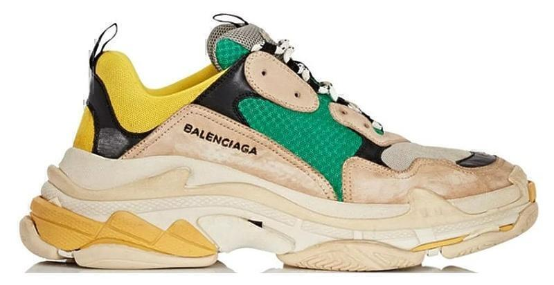 Кроссовки Balenciaga Triple S (Green/Yellow/Beige) фото в «GetKeds»