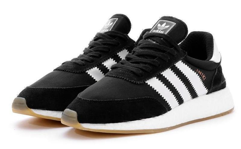 Кроссовки Adidas Iniki Runner Boost (Black/White) фото в «GetKeds»