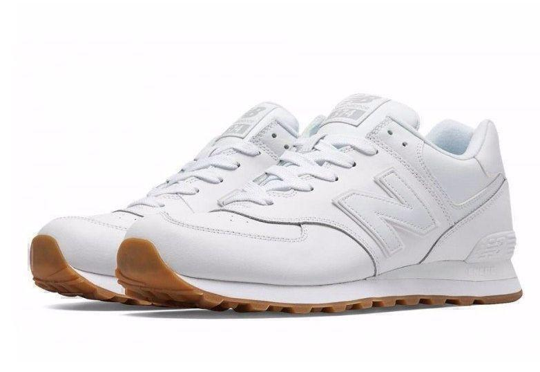 New Balance 574 White Gum (White) фото #2 в «GetKeds»