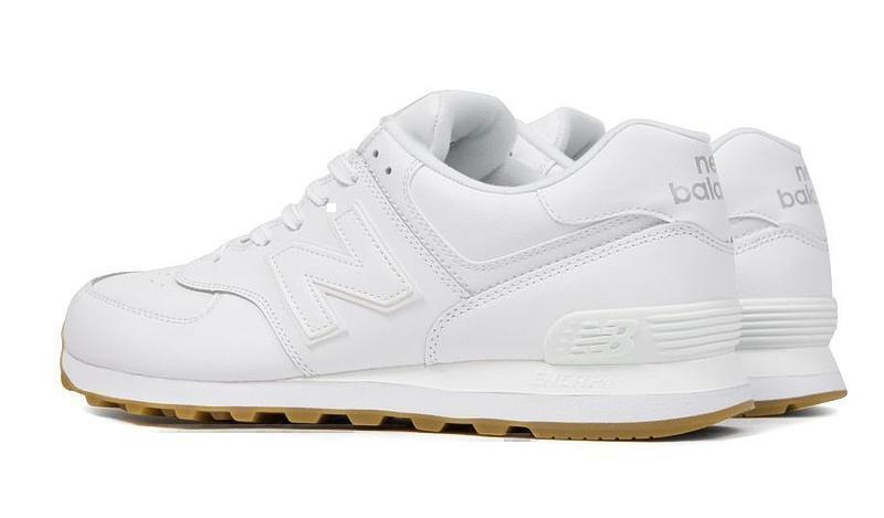 New Balance 574 White Gum (White) фото #3 в «GetKeds»