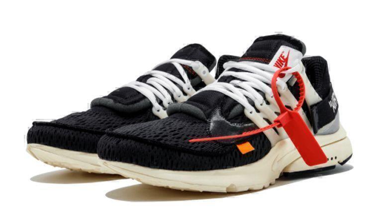 Кроссовки OFF-WHITE x Nike Air Presto (Black/White) фото в «GetKeds»