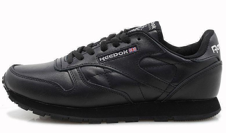 Кроссовки Reebok Classic Leather (black) фото в «GetKeds»