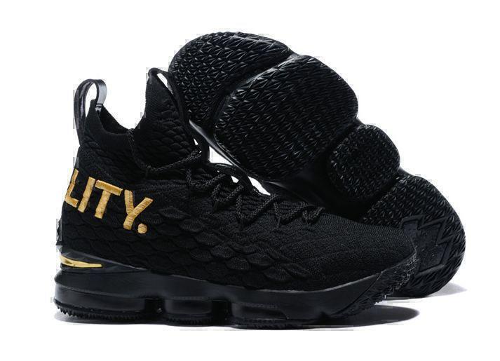 Nike Lebron 15 (Bkack/Gold) фото #2 в «GetKeds»