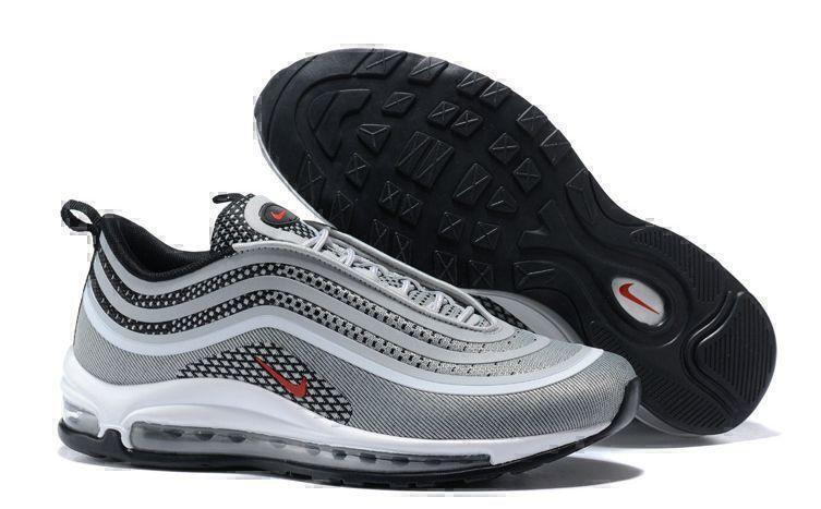 Кроссовки Nike Air Max 97 (Silver/Red/Black/White) фото в «GetKeds»