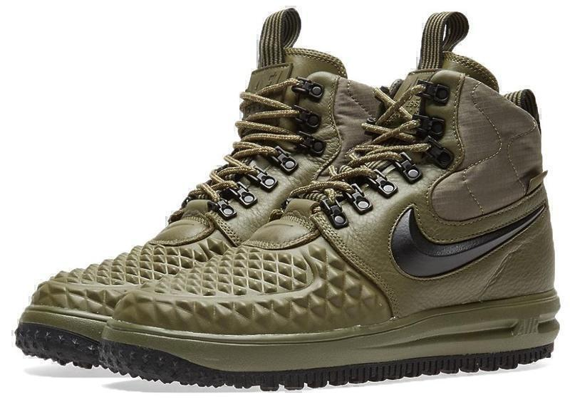 Кроссовки Nike Lunar Force 1 Duckboot (Dark Green) фото в «GetKeds»
