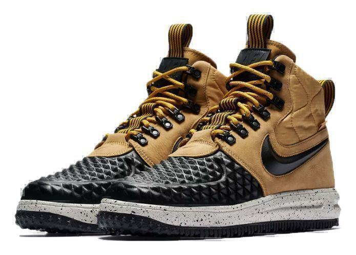 Кроссовки Nike Lunar Force 1 Duckboot (Metallic Gold/Light Bone/Black) фото в «GetKeds»