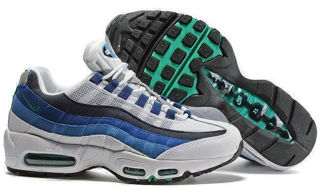 Кроссовки Nike Air Max 95 (White/Blue) фото в «GetKeds»