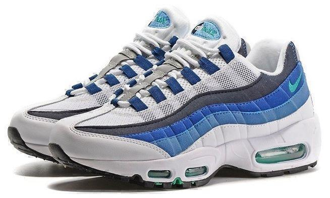 Nike Air Max 95 (White/Blue) фото #2 в «GetKeds»