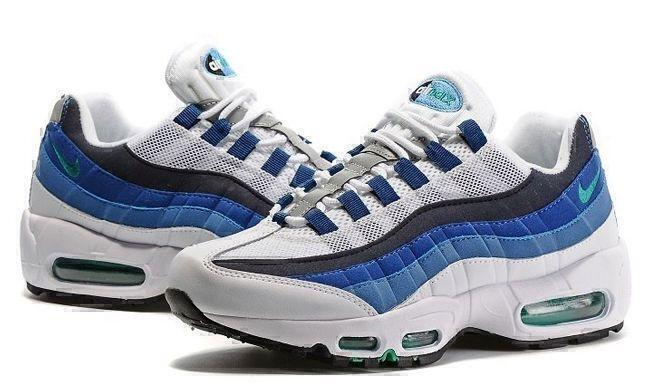 Nike Air Max 95 (White/Blue) фото #4 в «GetKeds»
