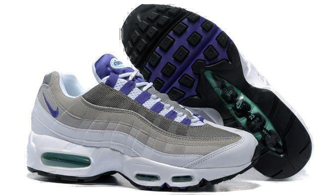 Кроссовки Nike Air Max 95 (White/grey/purple) фото в «GetKeds»