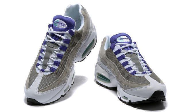 Nike Air Max 95 (White/grey/purple) фото #2 в «GetKeds»