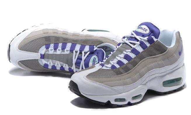 Nike Air Max 95 (White/grey/purple) фото #3 в «GetKeds»