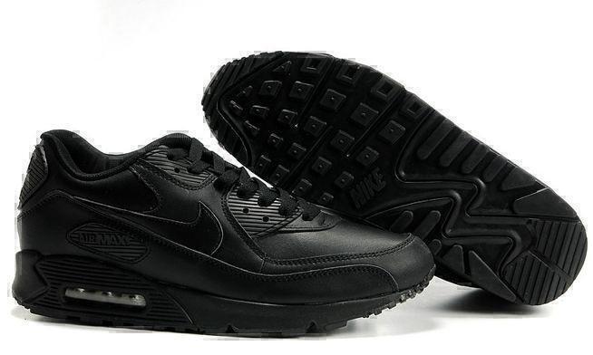 Кроссовки Nike Air Max 90 Leather (Black) фото в «GetKeds»