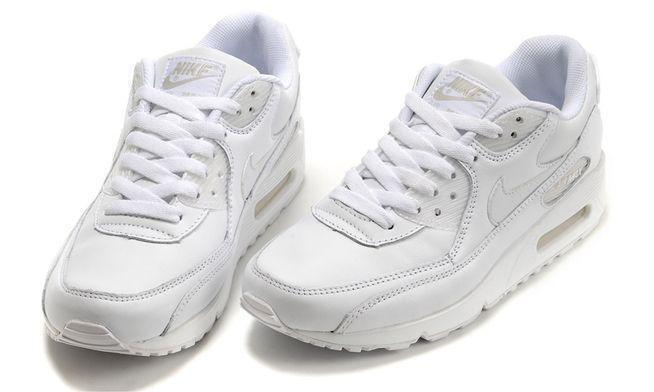 Nike Air Max 90 Leather (White) фото #2 в «GetKeds»