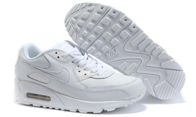 Кроссовки Nike Air Max 90 Leather (White) фото в «GetKeds»