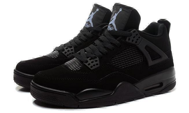"""Кроссовки Air Jordan 4 Retro """"Black Cat"""" (Black) фото в «GetKeds»"""