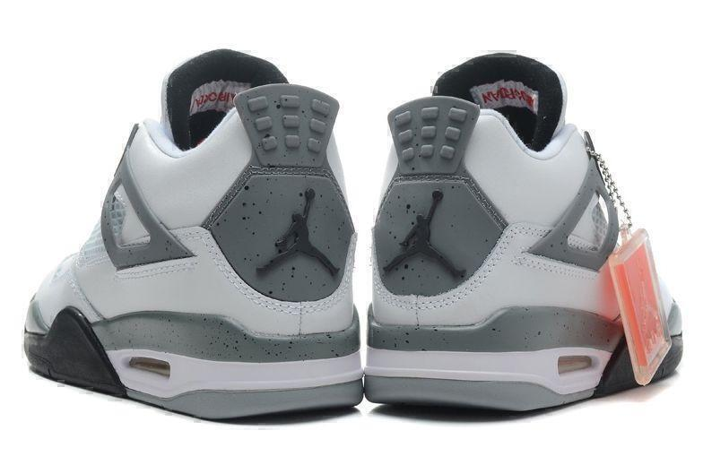 Air Jordan 4 Retro Grey Cement (Grey/White/Black) фото #4 в «GetKeds»