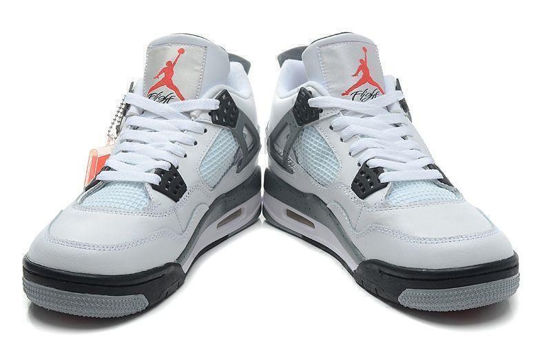 Air Jordan 4 Retro Grey Cement (Grey/White/Black) фото #3 в «GetKeds»
