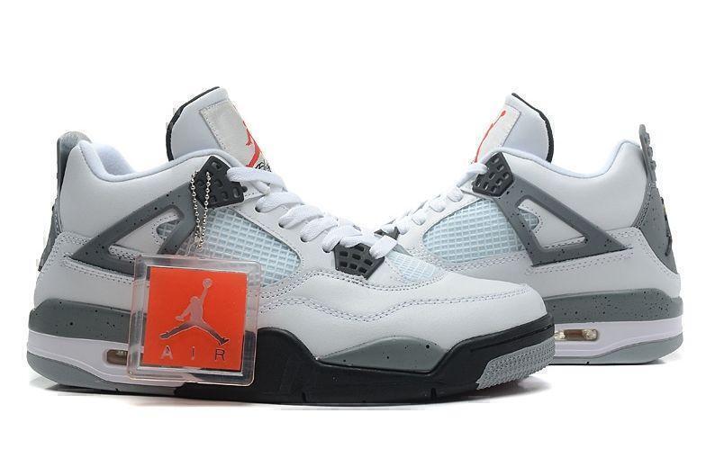 Air Jordan 4 Retro Grey Cement (Grey/White/Black) фото #2 в «GetKeds»