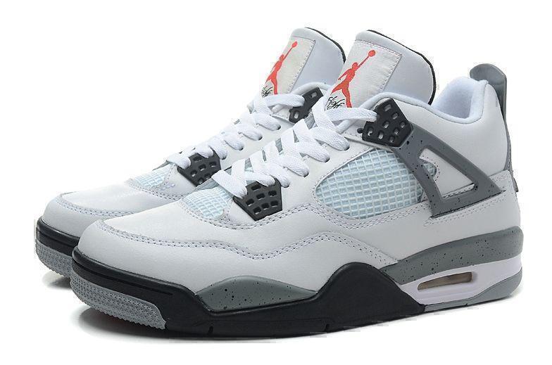 Кроссовки Air Jordan 4 Retro Grey Cement (Grey/White/Black) фото в «GetKeds»