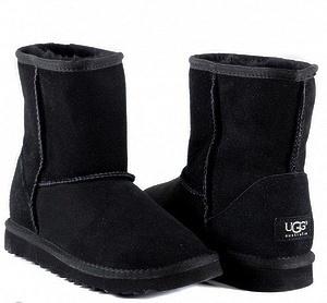 Угги UGG Kids Classic Short Black