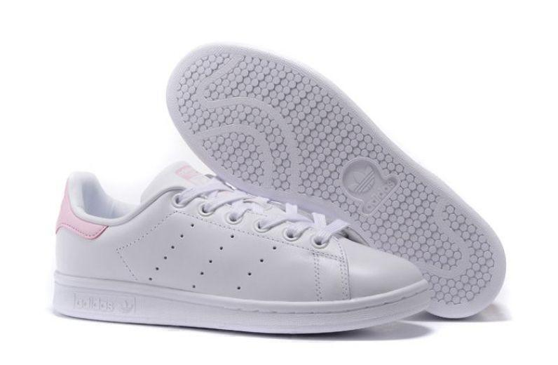 Кроссовки Adidas Stan Smith (White/Pink) фото в «GetKeds»