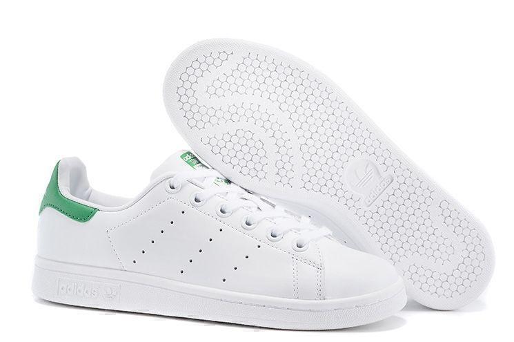 Кроссовки Adidas Stan Smith (White/Green) фото в «GetKeds»