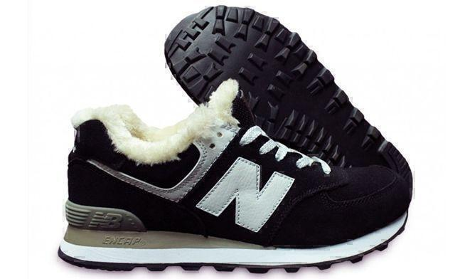 Кроссовки New Balance 574 With Fur (Black/White) фото в «GetKeds»