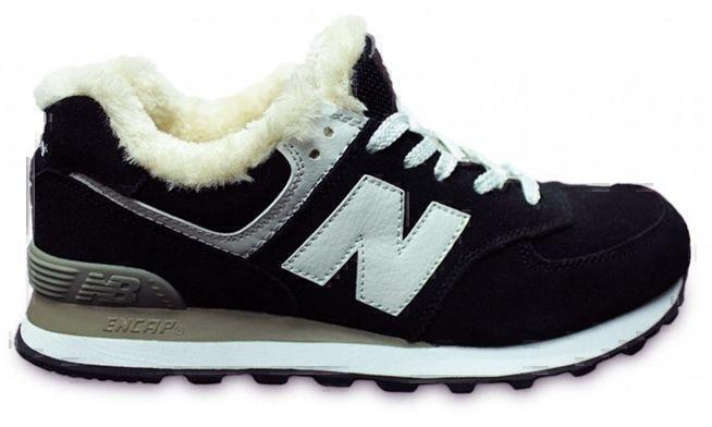 New Balance 574 With Fur (Black/White) фото #2 в «GetKeds»