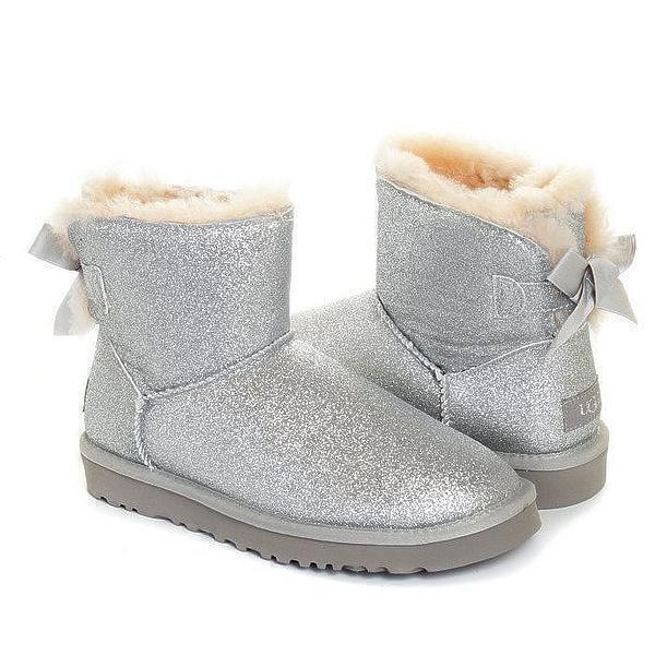 Угги UGG Mini Bailey Bow Sparkle Boot Grey фото в «GetKeds»