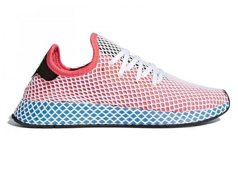 Кроссовки Adidas Deerupt Runner J (Sol Red/Blue Bir) фото в «GetKeds»
