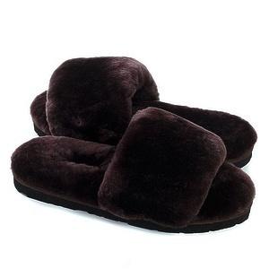 Угги UGG Fluff Slide Slippers Chocolate