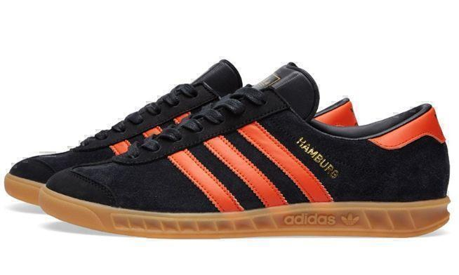Кроссовки Adidas Hamburg (Black/Orange) фото в «GetKeds»