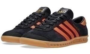 Кеды Adidas Hamburg (Black/Orange)-G8654GK