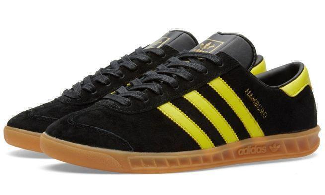 Кроссовки Adidas Hamburg (Black/Yellow) фото в «GetKeds»