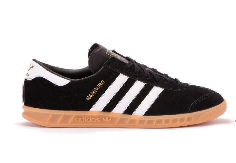 Кроссовки Adidas Hamburg (Black/White) фото в «GetKeds»
