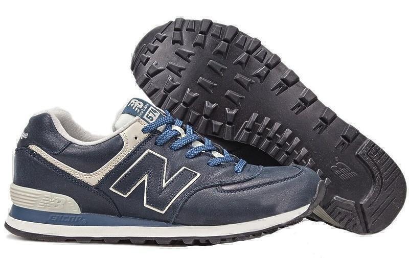 Кроссовки New Balance 574 Leather (Blue) фото в «GetKeds»