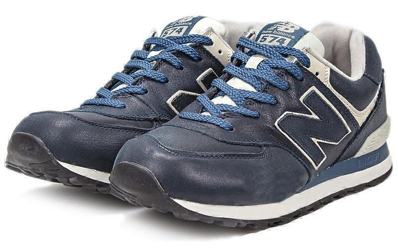 New Balance 574 Leather (Blue) фото #2 в «GetKeds»