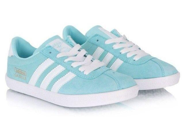 Кроссовки Adidas Gazelle Womens (Light Blue) фото в «GetKeds»